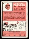1966 Topps #97   Dainard Paulson Back Thumbnail