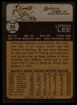 1973 Topps #83   Leron Lee Back Thumbnail