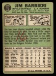 1967 Topps #76   Jim Barbieri Back Thumbnail
