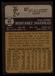 1973 Topps #97   Willie Montanez Back Thumbnail