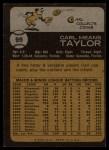 1973 Topps #99   Carl Taylor Back Thumbnail
