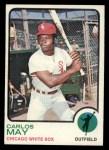 1973 Topps #105   Carlos May Front Thumbnail
