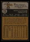 1973 Topps #113   Jerry Grote Back Thumbnail