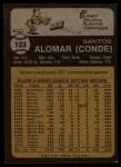 1973 Topps #123   Sandy Alomar Back Thumbnail