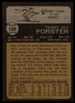 1973 Topps #129   Terry Forster Back Thumbnail