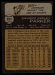 1973 Topps #151   Wes Parker Back Thumbnail