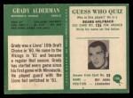 1966 Philadelphia #106  Grady Alderman  Back Thumbnail