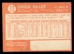 1964 Topps #313  Chuck Hiller  Back Thumbnail