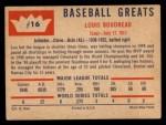 1960 Fleer #16   Lou Boudreau Back Thumbnail