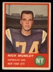 1963 Fleer #22  Nick Mumley  Front Thumbnail