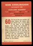 1963 Fleer #60   Bob Coolbaugh Back Thumbnail