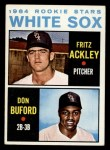 1964 Topps #368   -  Fritz Ackley / Don Buford White Sox Rookies Front Thumbnail