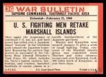 1965 Philadelphia War Bulletin #36   Pinned Down Back Thumbnail