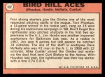 1969 Topps #532  Bird Hill Aces  -  Mike Cuellar / Jim Hardin / Dave McNally / Tom Phoebus Back Thumbnail