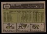 1961 Topps #199  Bob Boyd  Back Thumbnail