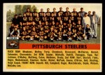 1956 Topps #63  Steelers Team  Front Thumbnail