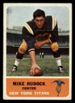 1962 Fleer #61  Mike Hudock  Front Thumbnail