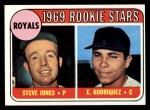 1969 Topps #49 ERR Royals Rookies  -  Steve Jones / Eliseo Rodriquez Front Thumbnail