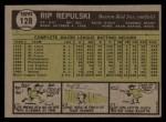 1961 Topps #128  Rip Repulski  Back Thumbnail