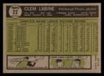1961 Topps #22  Clem Labine  Back Thumbnail