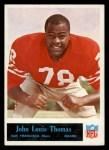 1965 Philadelphia #181   John Thomas  Front Thumbnail