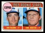 1969 Topps #646  Expos Rookies  -  Dan McGinn / Carl Morton Front Thumbnail