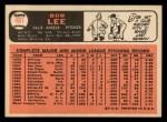 1966 Topps #481  Bob Lee  Back Thumbnail