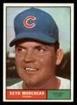1961 Topps #107 ERR  Seth Moorehead Front Thumbnail