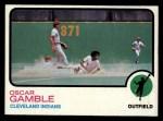 1973 Topps #372   Oscar Gamble Front Thumbnail