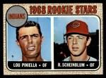 1968 Topps #16  Indians Rookies  -  Lou Piniella / Richie Scheinblum Front Thumbnail