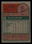 1975 Topps Mini #591   Glenn Abbott Back Thumbnail