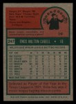 1975 Topps Mini #247   Enos Cabell Back Thumbnail