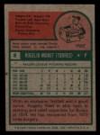 1975 Topps Mini #8   Rogelio Moret Back Thumbnail