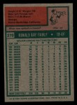 1975 Topps Mini #270  Ron Fairly  Back Thumbnail