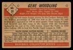 1953 Bowman Black and White #31  Gene Woodling  Back Thumbnail