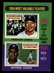 1975 Topps Mini #194  1956 MVPs  -  Mickey Mantle / Don Newcombe Front Thumbnail