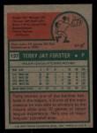 1975 Topps Mini #137  Terry Forster  Back Thumbnail