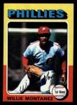 1975 Topps Mini #162   Willie Montanez Front Thumbnail