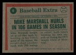 1975 Topps Mini #6  Mike Marshall  Back Thumbnail