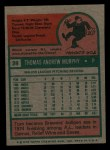 1975 Topps Mini #28  Tom Murphy  Back Thumbnail