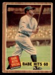 1962 Topps #139 GRS  -  Babe Ruth Babe Hits 60 Front Thumbnail