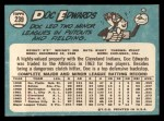 1965 Topps #239   Doc Edwards Back Thumbnail