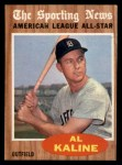 1962 Topps #470  All-Star  -  Al Kaline Front Thumbnail