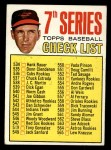 1967 Topps #531  Checklist 7  -  Brooks Robinson Front Thumbnail