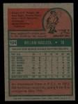 1975 Topps Mini #104   Bill Madlock Back Thumbnail