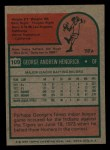 1975 Topps Mini #109  George Hendrick  Back Thumbnail