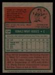 1975 Topps Mini #134   Ron Hodges Back Thumbnail