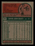 1975 Topps Mini #53  Dave Giusti  Back Thumbnail