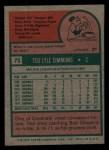 1975 Topps Mini #75   Ted Simmons Back Thumbnail