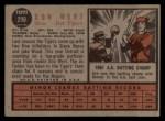 1962 Topps #299   Don Wert Back Thumbnail